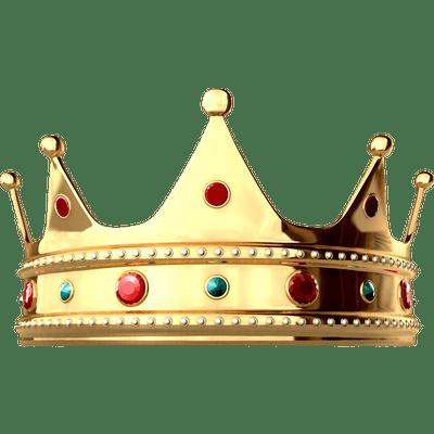 Shiny King Crown transparent PNG - StickPNG
