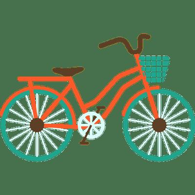 Vintage Tandem Bicycle Transparent PNG