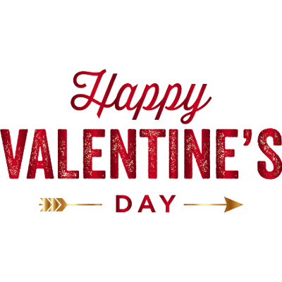 Happy Valentines Day Gold Arrow Transparent Png Stickpng