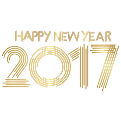 gold happy new year 2017 transparent png stickpng
