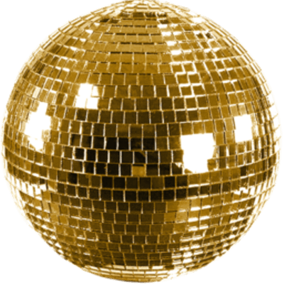 Shiny Gold Disco Ball transparent PNG - StickPNG