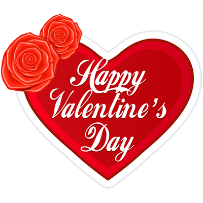 Happy Valentine S Day In Pink Heart Transparent Png Stickpng