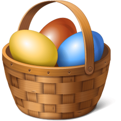 Eggs In A Basket Clipart