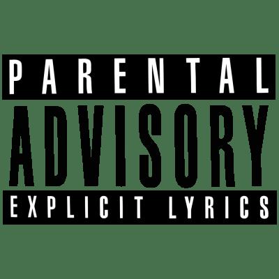 Parental advisory custom. Explicit content transparent png