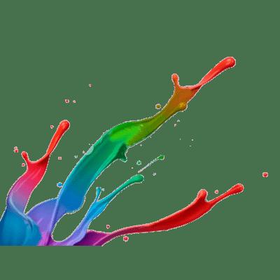 Paint Splatter Footer
