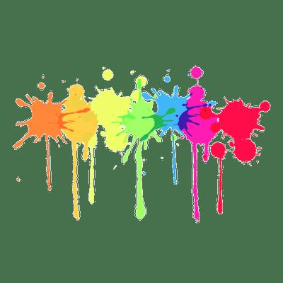 Multicolour Paint Splatter