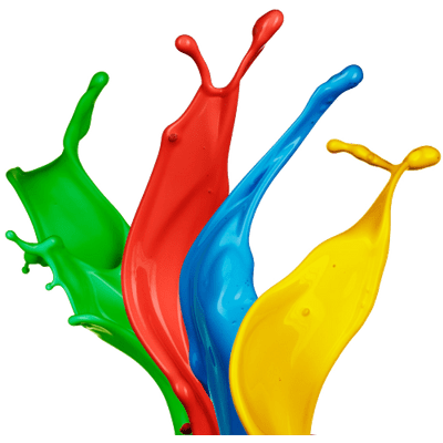 Paint Splatter Large Footer