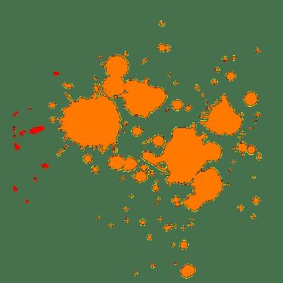 Orange Paint Splatter