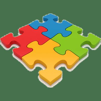 4 Puzzle Pieces transparent PNG - StickPNG