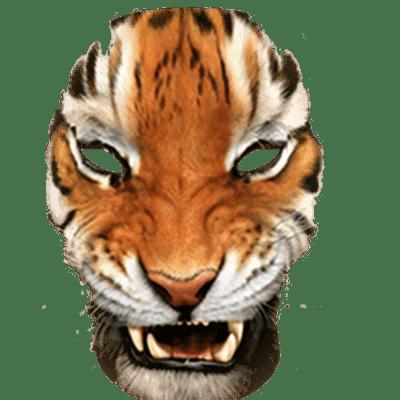 Simple Tiger Mask transparent PNG - StickPNG