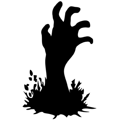 Black and White Zombie Hand Clipart transparent PNG - StickPNG