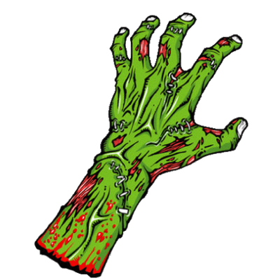 Green Zombie Hand transparent PNG - StickPNG