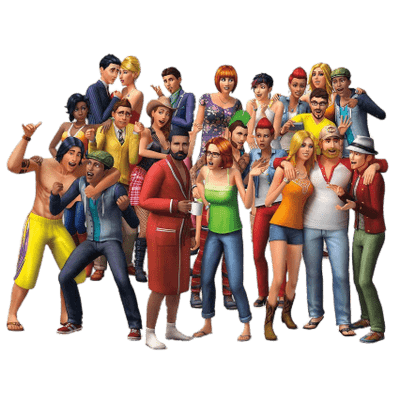 The Sims At the Restaurant transparent PNG - StickPNG