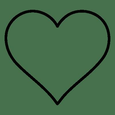Heart transparent png stickpng - Image de coeur a colorier ...
