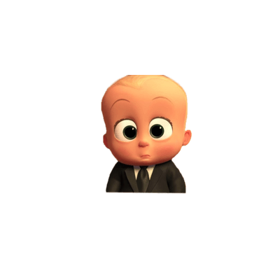 Boss Baby Cute Face Transparent Png Stickpng