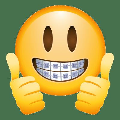 Braces Face Emoji transparent PNG - StickPNG