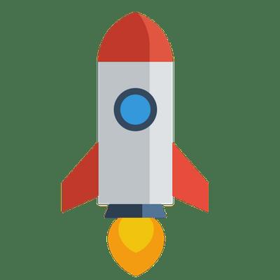 Rounded Rocket Emoji transparent PNG - StickPNG