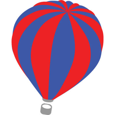 Red Blue Hot Air Balloon