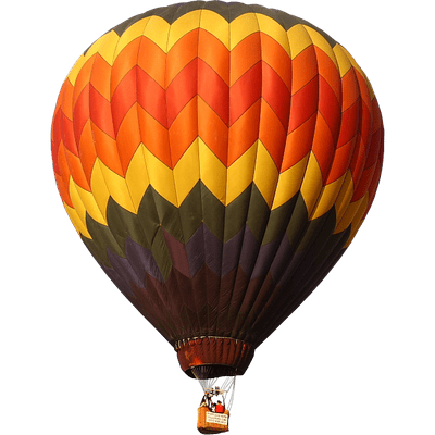 Red Yellow Green Hot Air Balloon