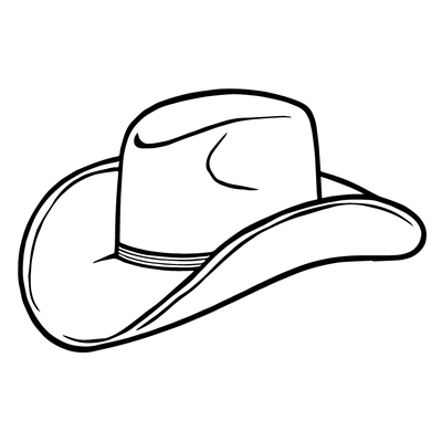 Cartoon Black Cowboy Hat Png / Beginning in the 1940s, pastel colors were introduced, seen often.