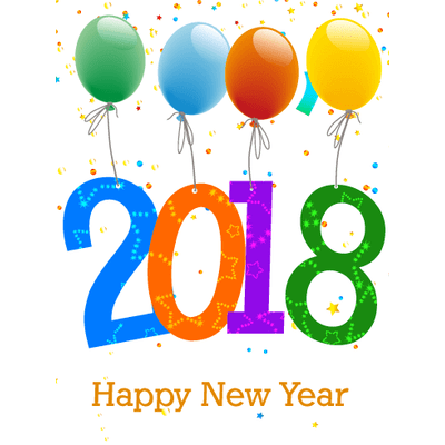Happy new year 2018 balloons transparent png stickpng voltagebd Images