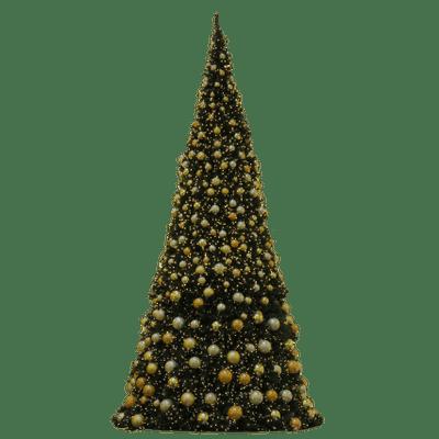 Christmas Tree Golden Baubles Transparent Png Stickpng