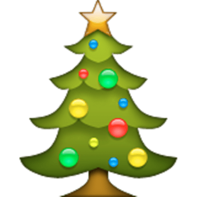 Christmas Tree Emoji transparent PNG - StickPNG
