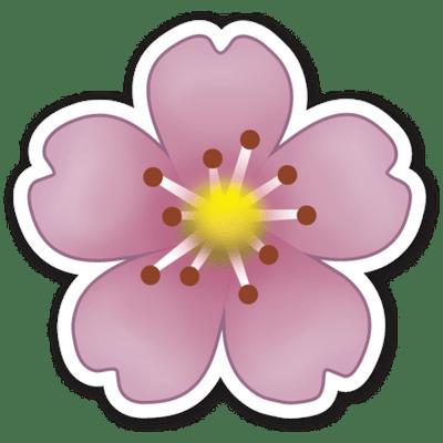 Emoji Fleur Mauve Png Transparents Stickpng