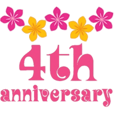 4th Anniversary Flowers Transparent Png Stickpng