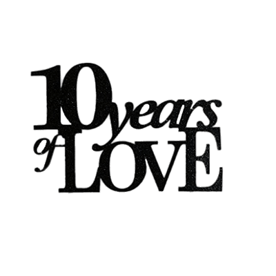 10 Year Wedding Anniversary.10 Years Of Love Transparent Png Stickpng