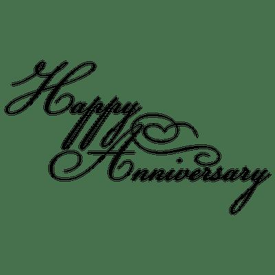 happy anniversary black writing