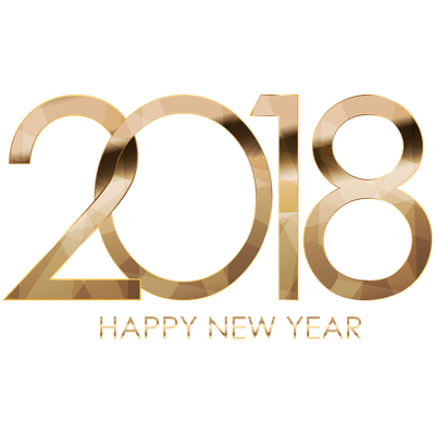 2018 happy new year golden letters transparent png stickpng