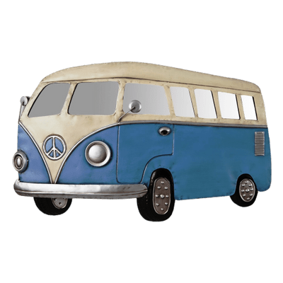 Red Volkswagen Camper Van Clipart Transparent PNG