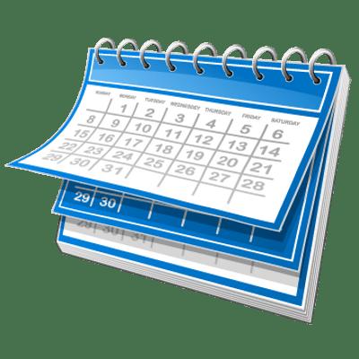 Blue and White Calendar transparent PNG - StickPNG