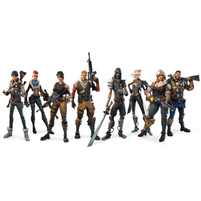 Fortnite Characters Transparent Png Stickpng