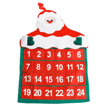 Advent calendar. Santa claus transparent png