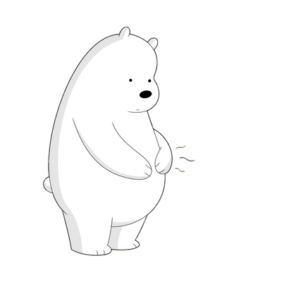 Ice Bear Is Hungry Transparent Png Stickpng