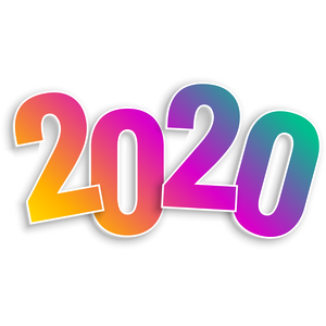 Happy New Year 2020 Colourful Design Transparent Png Stickpng